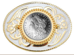 Silver Dollar and Coin Style Belt Buckles