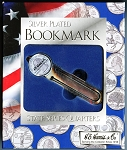 Silver Plated Bookmark State Series Quarters H.E. Harris & Co.