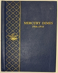 Whitman Bookshelf Album #9413 Mercury Dimes 1916-1945 - Preowned