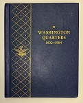 Whitman Bookshelf Album #9418 Washington Quarters  1932-1964 - Preowned