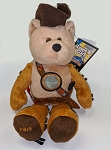 Limited Treasure LEWIS Bean Bag Bear with Commemorative 2004 Peace Medal Nickel