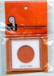 Capital Plastic KC Coin Holder $20.00 Gold-White (34mm)