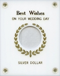 Capital Plastics Best Wishes on your Wedding Day - Silver Dollar - White
