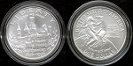 1996-D Smithsonian Commemorative Silver Dollar - Uncirculated - In Mint Capsule only.