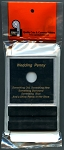 Capital Plastic Greeting Card Coin Holder - Wedding Penny - Lincoln Cent - Black