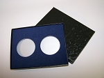 Two Coin Black Cardboard Gift Box - 4 1/2