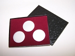 Three Coin Black Cardboard Gift Box - 4 1/2
