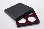 Four Coin Black Cardboard Gift Box - 5 3/4
