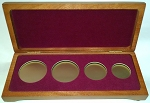U.S. Gold or Platinum Eagle Four Coin Presentation Case Gift Box - 8 1/4