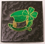 St. Patrick's Day Single Coin Black cardboard box with a green insert card Gift Box  - 3