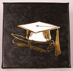 Graduation Black cardboard box with a black insert card Gift Box - 3
