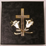 Religious (Cross) Single Coin Black Cardboard Gift Box - 3