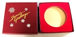 Season's Greetings   Red cardboard box with a red insert card  Gift Box - 3
