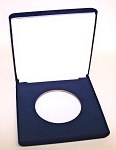 Single Blue Velvet Clamshell Gift Box -  5