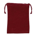 Burgundy Velour Drawstring