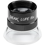 Peak 15x Loupe w/Achromatic Optical Glass Lens