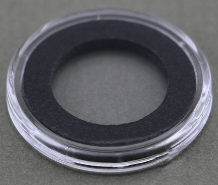 1 AIRTITE COIN HOLDER CAPSULE BLACK RING 33 MM