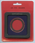 Air-Tite Frame Holder - Happy Birthday - 1 oz. Silver Medallion 39mm  - Blue