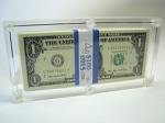 Capital Plastic Currency Pack Holder for U.S. Currency 1928 - Date-  7-3/8