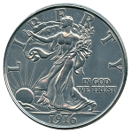 Giant 1916 Walking Half Dollar
