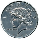 Giant 1922 Peace Dollar