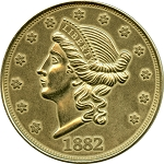 Giant 1882 $20.00 Gold