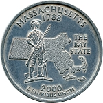 Giant 2000 Massachusetts Quarter