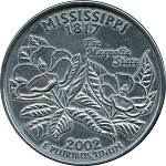 Giant 2002 Mississippi Quarter
