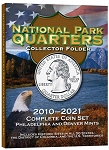 H.E. Harris Deluxe Edition National Park Quarter Folder Display all P and D Mint coins 2010-2021