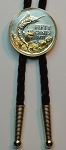 2-Toned Gold on Silver Bahamas 50 cent Blue Marlin - Bolo-Tie