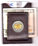 2-Toned Gold on Silver German 2 Mark Eagle - Folding Money clip