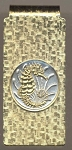 2-Toned Gold on Silver Singapore 10 cent Seahorse - Hinged Money Clip