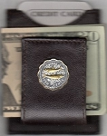 2-Toned Gold on Silver Bahamas 10 cent Bone fish - Folding Money clip