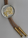 2-Toned Gold on Silver Singapore 50 cent Lionfish - Bolo-Tie