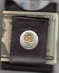 2-Toned Gold on Silver Somalia 10 Shillings Year of the snake Snake and word snake in gold - Folding Money clip