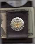 2-Toned Gold on Silver Kennedy half dollar (reverse) (1970- date) - Folding Money clip