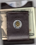 2-Toned Gold on Silver Indian head penny (minted 1859 -1909) - Folding Money clip