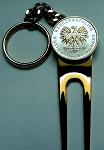 2-Toned Gold & Silver Polish Eagle Coin-Golf ball marker, Divot, Key chain
