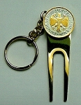 2-Toned Gold on Silver German  Eagle Coin-Golf ball marker, Divot, Key chain