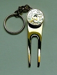 2-Toned  Gold & Silver  Spanish   Anchor & Ships wheel  Coin-Golf ball marker, Divot, Key chain