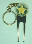 2-Toned  Gold on Silver Bahamas  Starfish Coin-Golf ball marker, Divot, Key chain