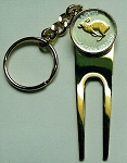 2-Toned  Gold on Silver Canadian  Rabbit Coin-Golf ball marker, Divot, Key chain