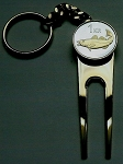 2-Toned  Gold on Silver Iceland Codfish Coin-Golf ball marker, Divot, Key chain