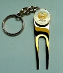 2-Toned  Gold on Silver Polish Eagle with crown  Coin-Golf ball marker, Divot, Key chain