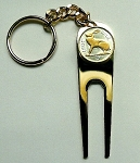 2-Toned   Gold on Silver Irish  Rabbit  Coin-Golf ball marker, Divot, Key chain