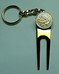 2-Toned   Gold on Silver  Cayman Island Turtle  Coin-Golf ball marker, Divot, Key chain