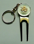 2-Toned Gold on Silver  Somalia Snake Coin-Golf ball marker, Divot, Key chain