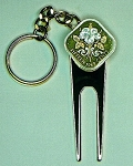 2-Toned Gold & Silver Bahamas White Hibiscus Coin-Golf ball marker, Divot, Key chain