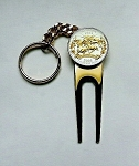2-Toned Gold & silver Nevada U.S. Statehood quarter-Golf ball marker, Divot, Key chain