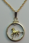 "Uruguay ""Horse"", Coin Necklaces, Beautifully Cut out & 2-toned"